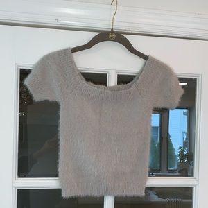 Kendall & Kylie Sweater Crop Top